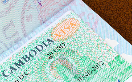 Cambodia entry stamps in U.S. Passport