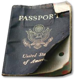 Damaged Passport Book