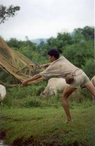Fisherman in Laos