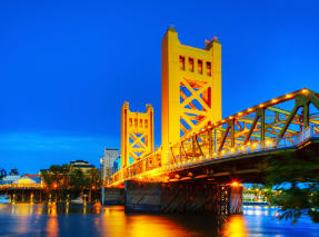 Golden Gates Drawbridge in Sacramento California
