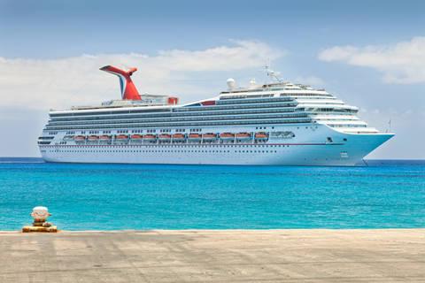 Luxury cruise ship in Caribbean