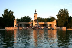 Alfonso XII Monument in Retiro Park Madrid Spain