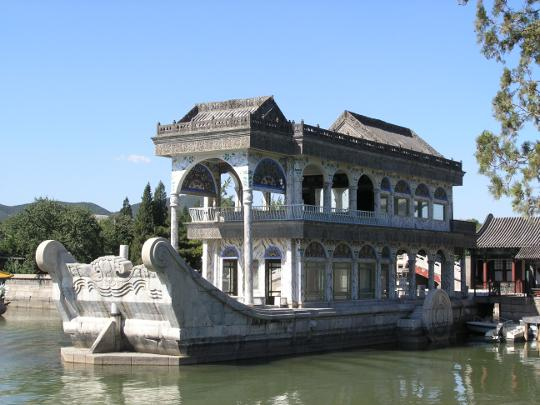 Marble Boat at Summer Palace in Beijing China
