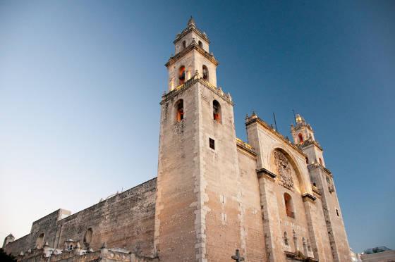 Merida cathedral, Yucatan Mexico