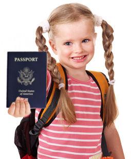 Minor child holding American passport