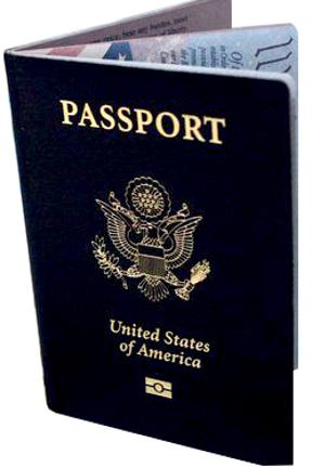 New United States Passport Book with rfid chip symbol