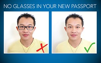 No Glasses in Your New Passport starting November 1