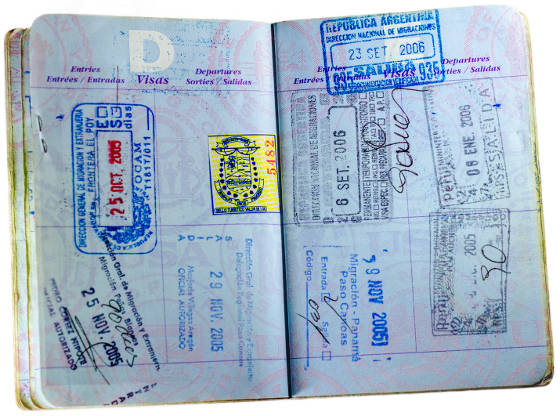 No more blank visa pages in passport book.