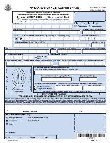 Passport Renewal Application Form DS-82