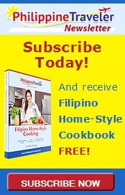 Philippine Traveler Newsletter sign up with free Filipino Home-Style Cooking recipe book