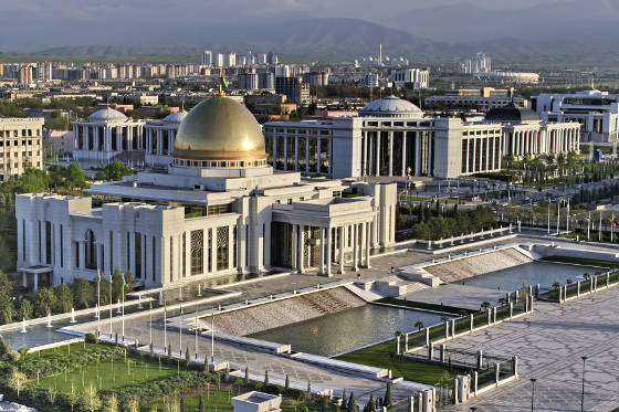 The president palace in Ashkhabad, Turkmenistan