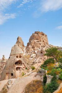 Rock Castle in Uchisar Cappidocia Turkey