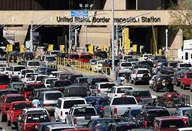 San Ysidro Border Crossing between US and Mexico