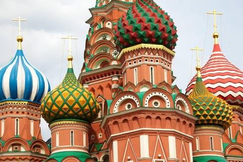 Colorful St Basil Cathedral in Moscow Russia
