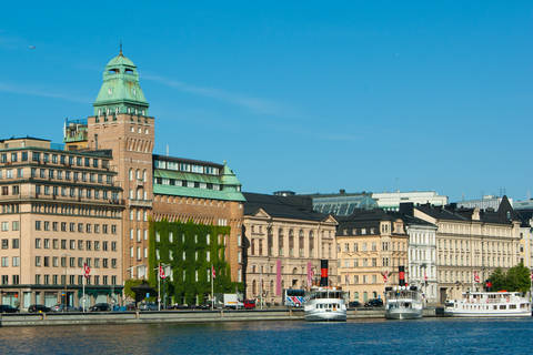 View of buildings in city of Stockholm Sweden