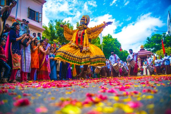parade on street in India