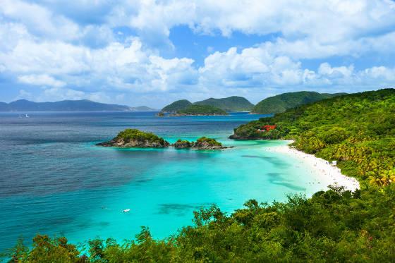 Trunk Bay, St. John, US Virgin Islands.