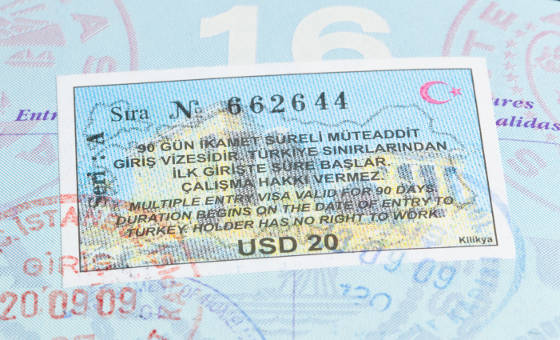 Turkey Visa in US Passport