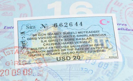 Turkey Visa in US Passport