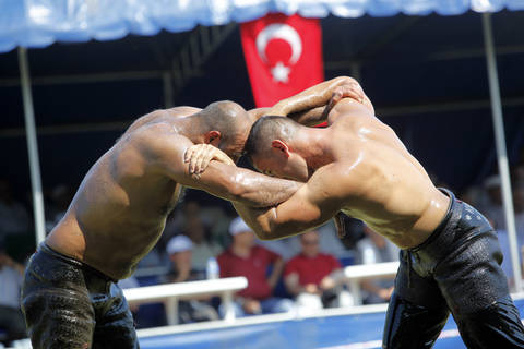 Turkish Oil Wrestling Competition