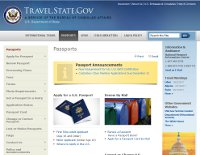 US Department of State Passport Service website.