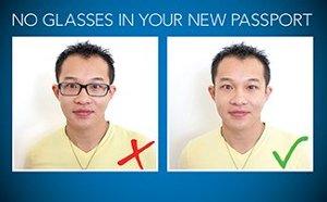 no glasses in passport photo