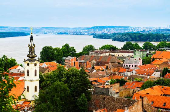 Zemun rooftops in Belgrade Serbia