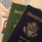 Old and new passport books