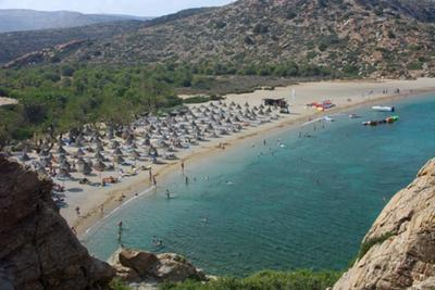Vai Beach on the Island of Crete in Greece