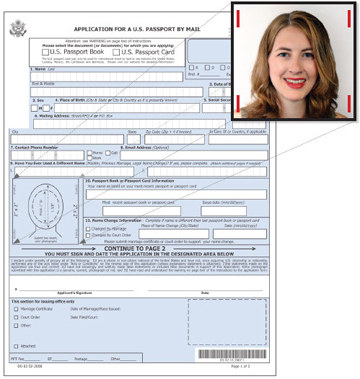 How to Affix Passport Photo to Application