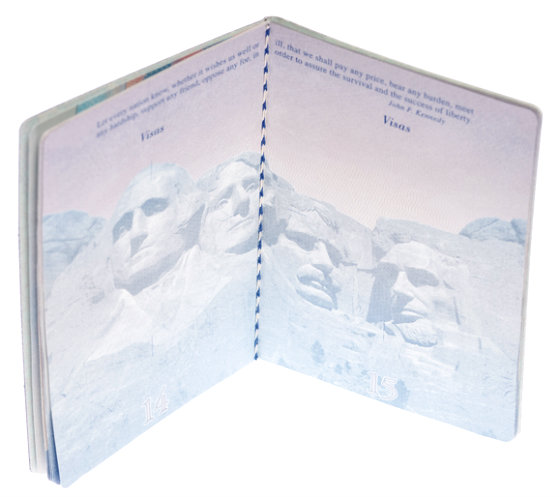 blank passport pages