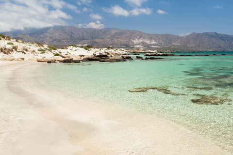 Elafonisi Beach on Crete in Greece
