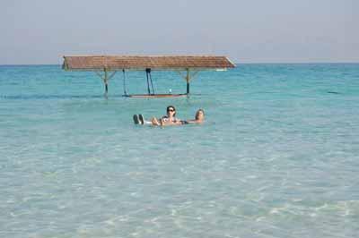 Floating on Dead Sea