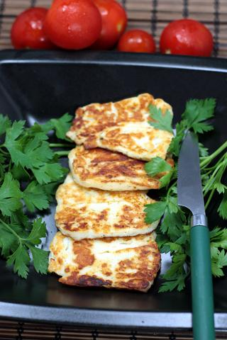 Halloumi Cheese Traditional Cypriot Food
