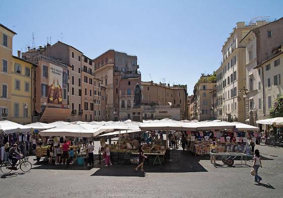 Piazza Campo del Fiori in Rome Italy