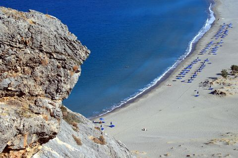 Plakias Beach on Crete in Greece