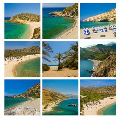 Collage of Crete Beaches