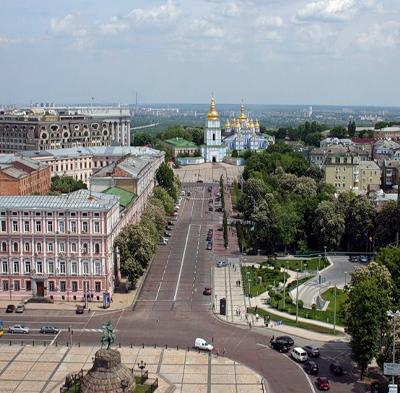 View of Kiev from Sophia Bell Tower
