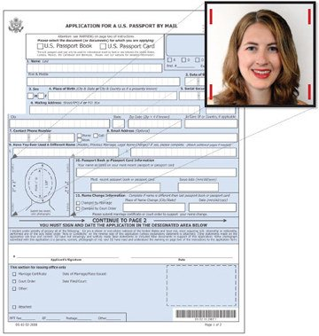 How Do I Affix My Photos To The Application For A Passport Renewal?