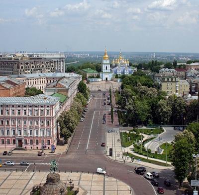 View of Kiev from Sophia Bell Tower